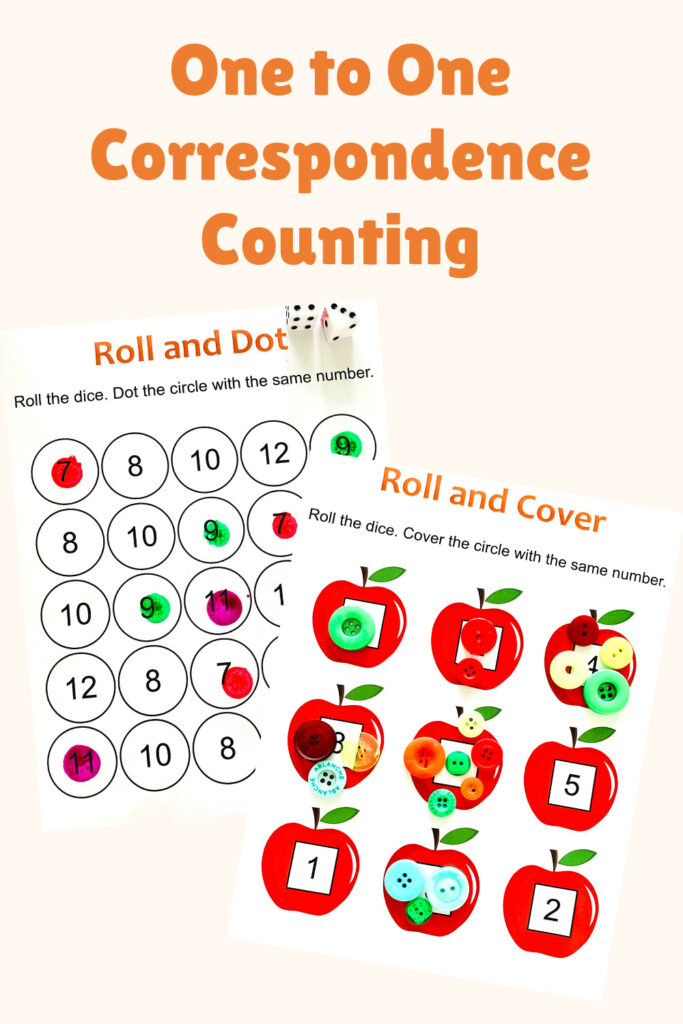 one to one correspondence counting activities