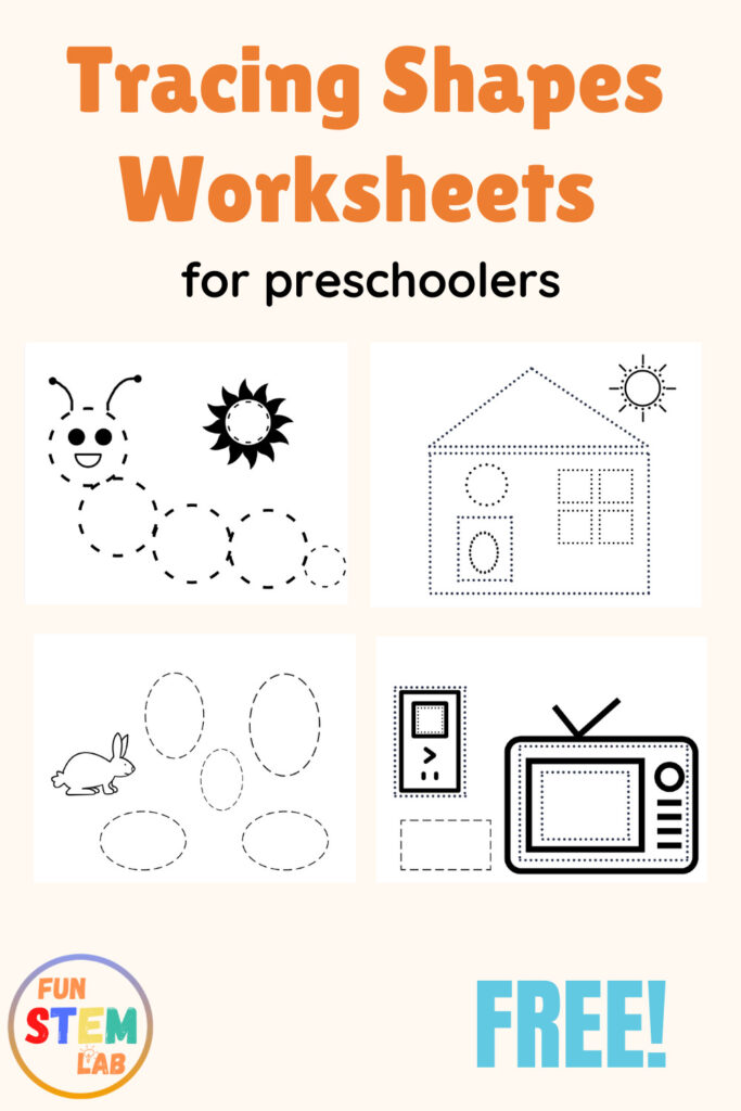 tracing shapes worksheets for preschoolers